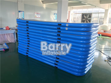 EN71 Inflatable Air Track Good Service Certificated Logo Printing Small Blue Air Floor Pro Tumbling Mat