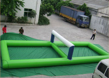Portable Inflatable Water Toys , Giant Inflatable Volleyball Court For Water
