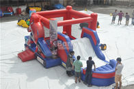 Spiderman Bouncy Castle, Vòng Inflatable Bouncer Combo Với Slide