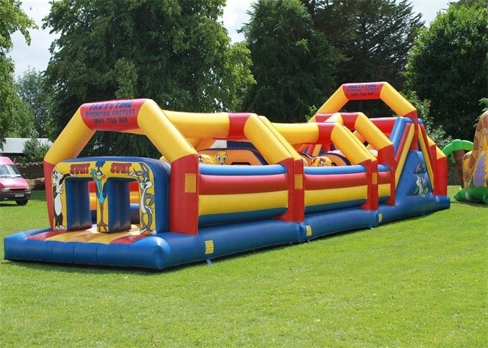 Waterproof PVC Backyard Adult Inflatable Obstacle Course With EN14960