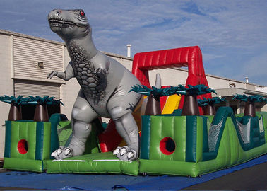 Tuyệt vời Jurassic Survivor Dinosaur Khóa học trở ngại Inflatable, Toddler Obstacle Course